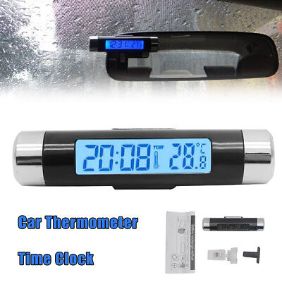 Universal KFZ Digital Auto Clip-on Thermometer & Uhr Temperatur Wohnmobil LKW Clip-on-thermometer