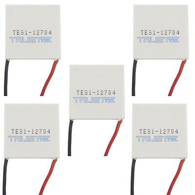5pcs Tes1-12704 Peltier Module 30mm Tec Thermoelectric Cooling Heatsink 12v4a.