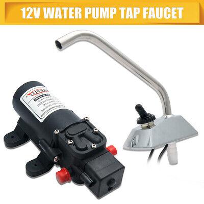 Caravan Electric Water Pump 35psi Waterproof Faucet Tap Pressure Pump Universal