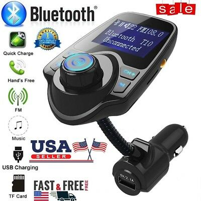 Universal Wireless Bluetooth FM Transmitter MP3 Car Radio Adapter USB Charger