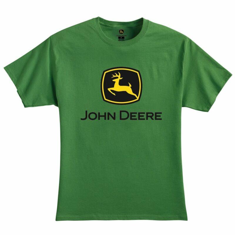 John Deere Mens T-Shirt XL Green Logo LP75679