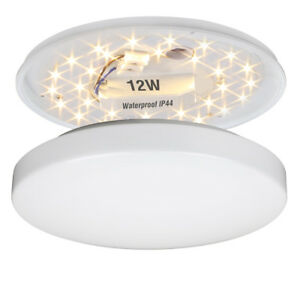 12W Bright LED Ceiling Light Flush Mount Fitting Kitchen Bathroom Lamp WarmWhite
