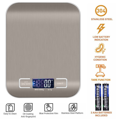 Digital Electronic Kitchen Food Diet Postal Scale Weight Balance 5KG / 1g 22lb