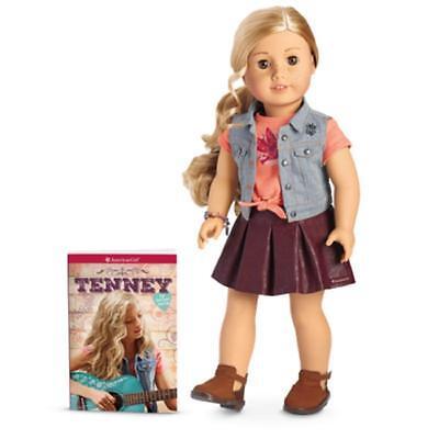 "American Girl TENNEY Grant DOLL & Book New NIB 18"" Tenny Guitar Player"