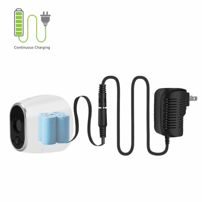 New Black Power Adapter cable for Arlo Security Camera /Replace Batteries CR123A