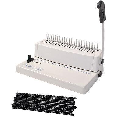 Goplus Bindegerät Bindmaster Bindemaschine Spiralbindegerät bis 250 Blatt A4Buch