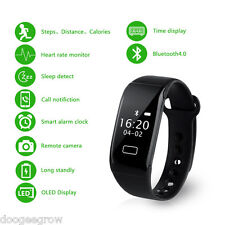 OLED Heart Rate Bracelet Bluetooth smart montre IP65étanche connecté Android IOS