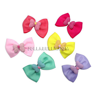Baby Girls Kids Hair Accessories Bow Ribbon Clips Pins Alligator Assort Colors for sale  Shipping to India