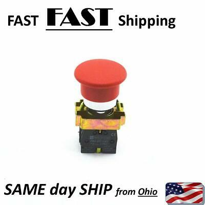Red Mushroom Industrial Switch Momentary Push Button Stop Switch N.c. Nc Contact