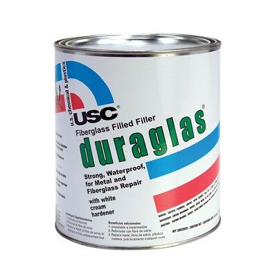 USC 24030 Duraglas Fiberglass Filled/Reinforced Auto Body Filler (Gallon) Fiberglass Body Filler