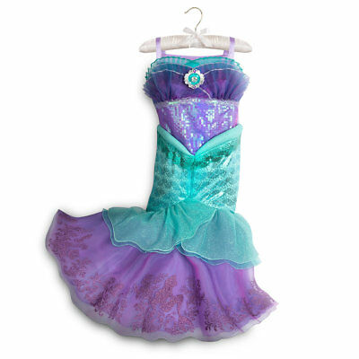 Disney Store Princess Little Mermaid Ariel Halloween Costume Dress Girl 5/6