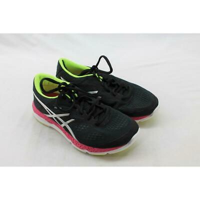 ASICS Women's Onyx/Hot Pink/Flash Yellow 33-FA Sneaker 7M (S5602)