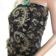 Black Brocade Fabric