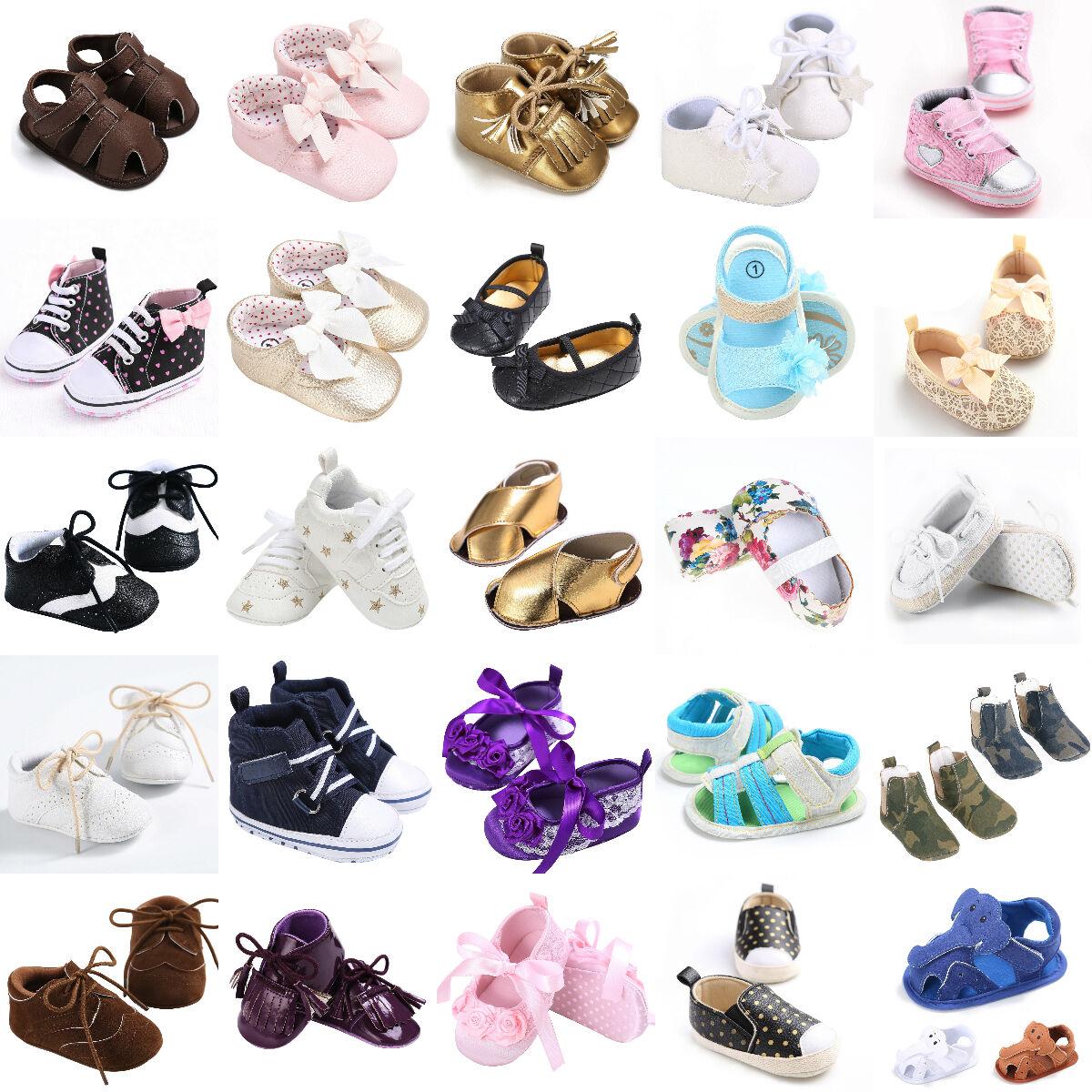 Baby Boy Girl Soft Sole Crib Shoes Sneaker Sandals Prewalker
