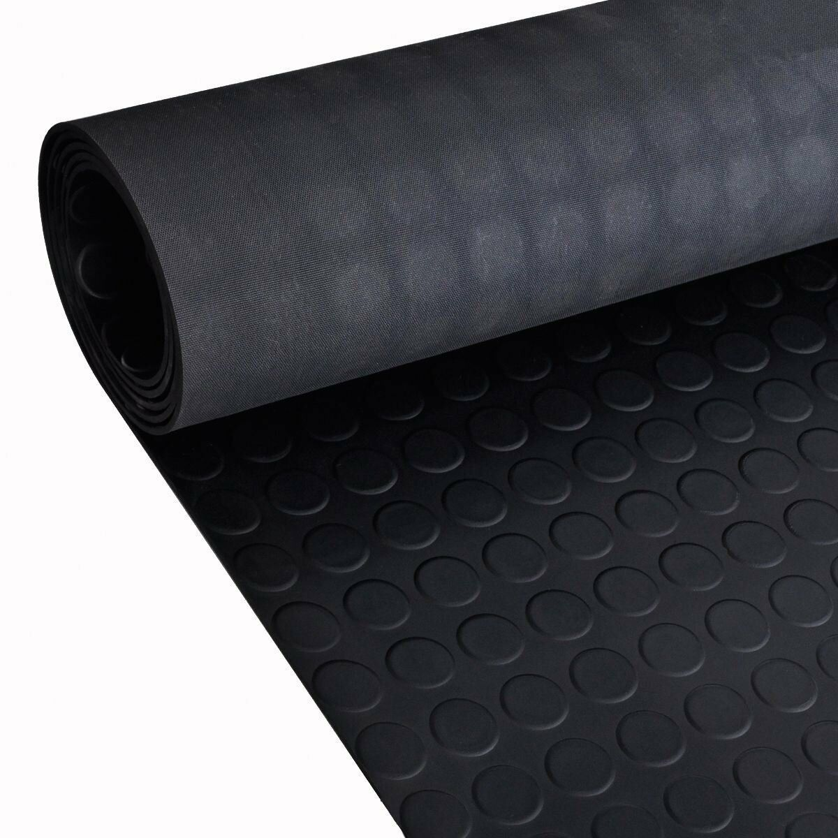 Car Parts - Stud / Penny Coin Rubber Flooring Matting for Garage, Van Car Roll Mat