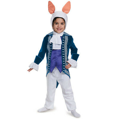 Disney Movies Alice in Wonderland White Rabbit Toddler Halloween Costume Kids