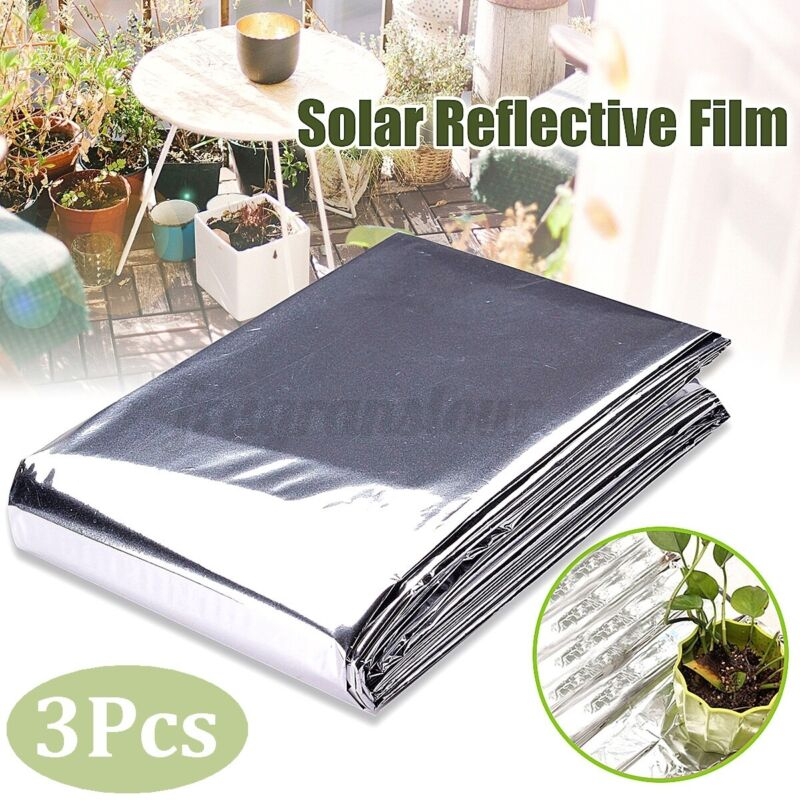 3x Garden Wall Mylar Hydroponic Highly Reflective Film Covering Sheet 82