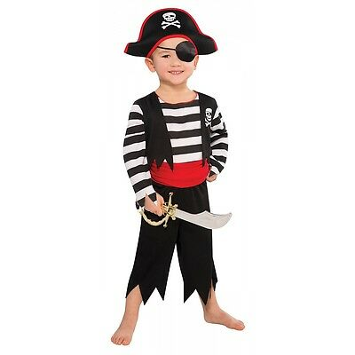 Pirate Costume Toddler Kids Halloween Fancy Dress - Kids Pirate