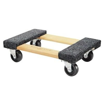 1000 Lb Capacity Mover Furniture Moving Dolly Hardwood 12x18 Swivel Casters