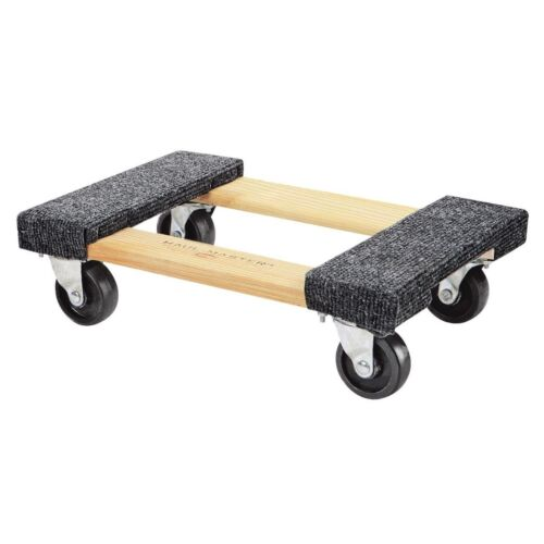 1000 lb Capacity Mover Furniture Moving Dolly Hardwood 12