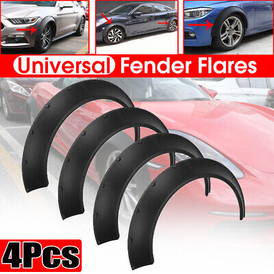 4x Universal Flexible 60+80mm Extra Wide Car Body Kit Fender Flares Wheel Arches