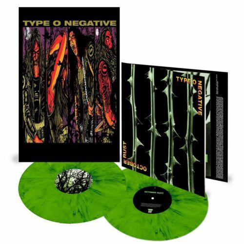 Type O Negative ~ October Rust ~ 25th Anniversary ~ 2LP Green/Black Vinyl - NEW
