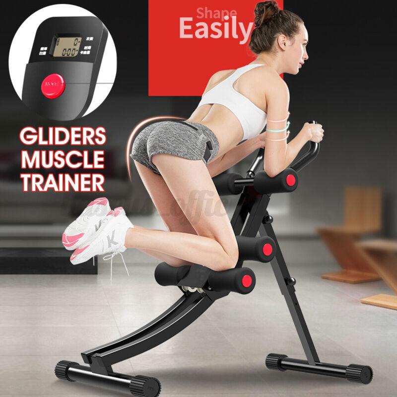 Abdominal Cruncher Machine Waist Power Trainer AB Glider Body Shaper Exercise US