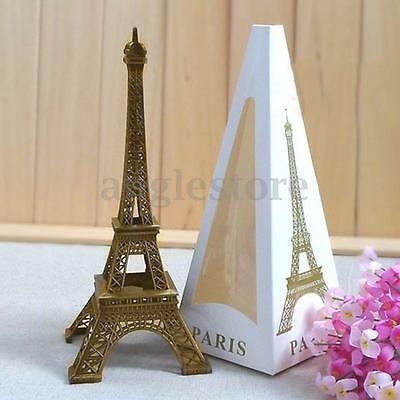 6'' Tone Paris Eiffel Tower Figurine Statue Vintage Alloy Model Home Decor - Eiffel Tower Decor