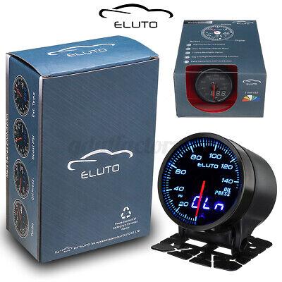 Eluto Universal 2'' 52mm 12V Oil Pressure Gauge Meter Sensor 7 Color LED PSI
