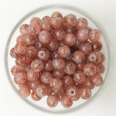 NEW 100PCS 4mm Glass Round Pearl Spacer Loose Beads Pattern Jewelry Making 14