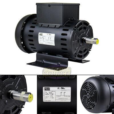 5 Hp Electric Motor Air Compressor Duty W1824y Frame 3465 Rpm Single Phase Weg