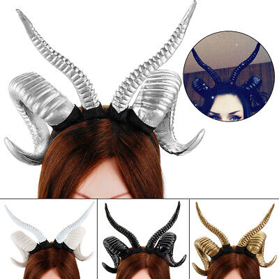 Antelope Horn Hoop Headband Sheep Gothic Devil Mori Girl Cosplay Hairband Adult