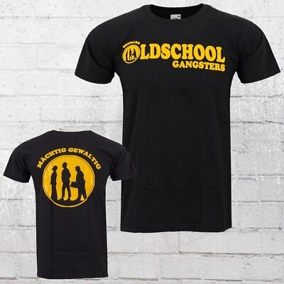 Oldschool Gangsters T-Shirt Herren schwarz Männer Tshirt DDR Osten Kultfilm Egon