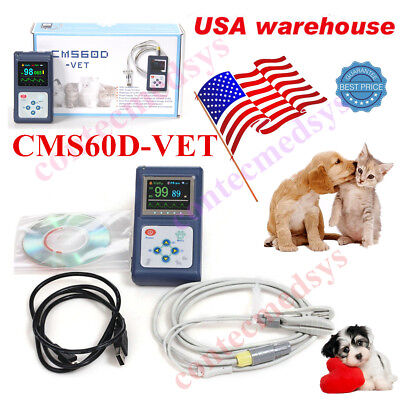 Contec Cms60dvet Spo2 Pulse Oximeter Tongue Ear Blood Oxygen Monitor Pc Sw