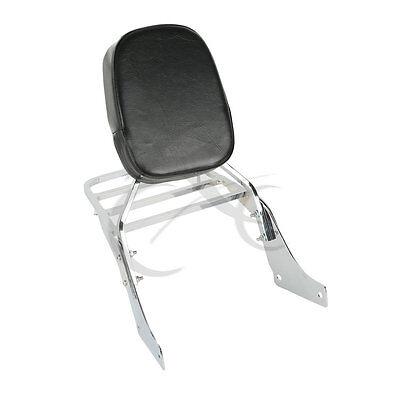 Backrest Sissy Bar Set + Luggage Rack For Honda Shadow SABRE 1100 ACE VT1100 NEW