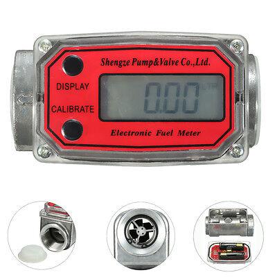 1'' 15-120L / Min Digital Gear Turbine Flowmeter Kerosene Diesel Fuel Flow Meter