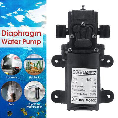 72w 130psi Dc12v Self Priming Water Pump Diaphragm High Pressure Reflux Switch