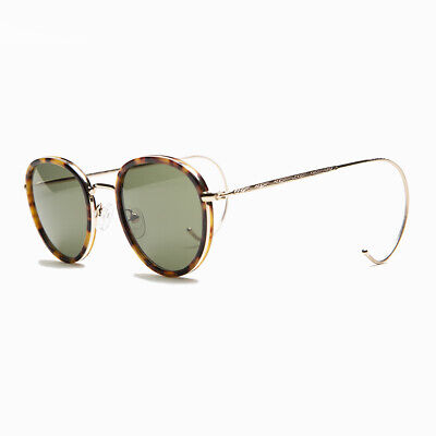 Preppy Round Sunglass with Cable Temples and Polarized Green Lenses - (Preppy Sunglasses Men)