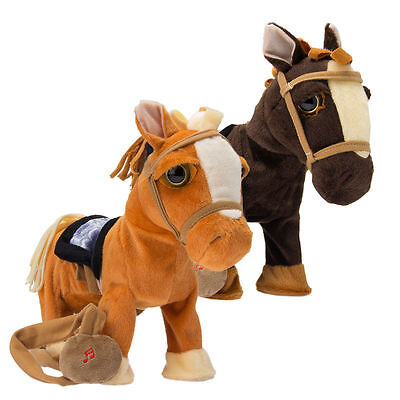Walking Horse Pony Musical Singing Toy Plush Battery Operated Horse for kids