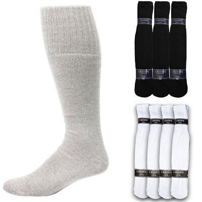4 8 12 Pairs Athletic Thick socks Calf / Knee High Men's Tube Socks White Black