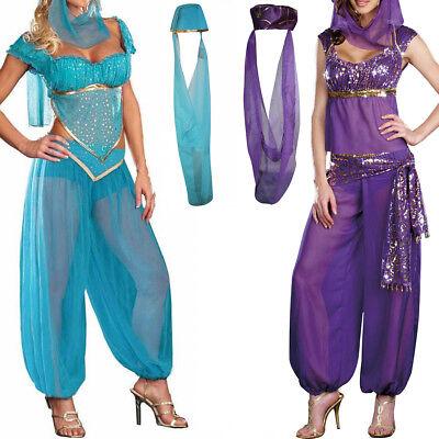 Frauen Genie Prinzessin Jasmine Arabian Kostüm Bauchtänzerin Kostüm - Bauchtänzerin Kostüm Frauen