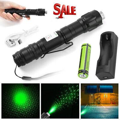 990miles Strong Beam Light Green Laser Pointer Pen 532nm Lazer Torch Waterproof