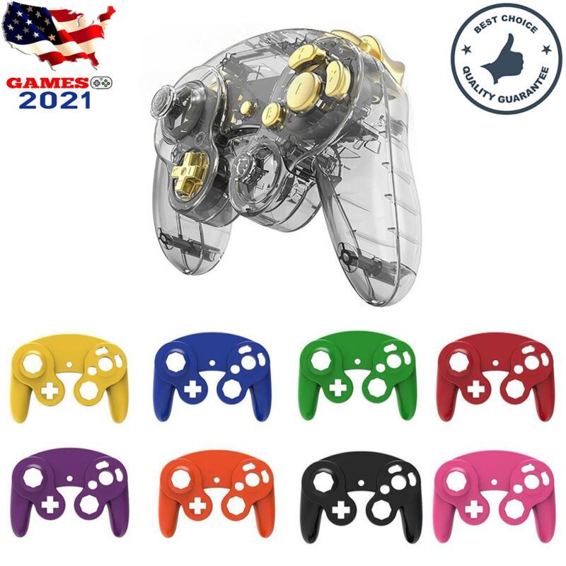 Housing Shell Cover Gold Button Replacement For Nintendo GameCube NGC Controller