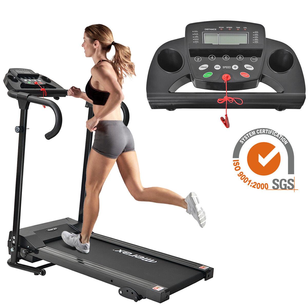 Laufband Elektrisches Fitnessgerät Klappbare Jogging Heimtrainer mit LCD-Display