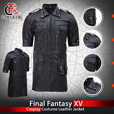 Final Fantasy XV FF15 Noctis Lucis Caelum Noct Cosplay Costume Leather Jacket - Leather Jacket Costume