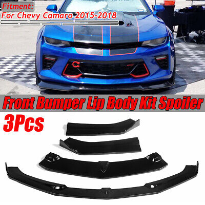 Front Bumper Lip Splitters Spoiler For 2015-2018 Chevrolet Camaro SS V8 Coupe