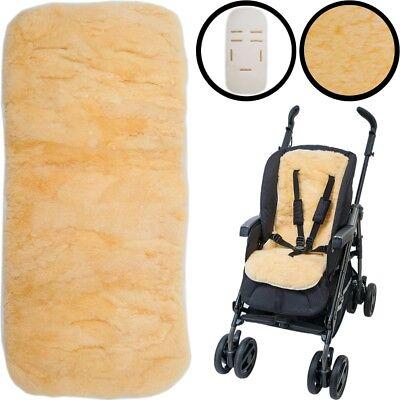 LAMMFELL Buggy Auflage Kinderwagen Autositz Einlage Kinder Natur Schaf Fell Baby