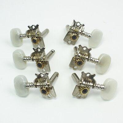 3L/3R Classic Acoustic Guitar Tuning Keys Tuners Head Pegs ,Nickel /Pearloid