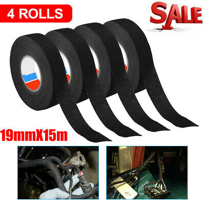 4 Rolls Cloth Tape Wire Electrical Wiring Harness Car Auto Suv Truck 19mm15m Us