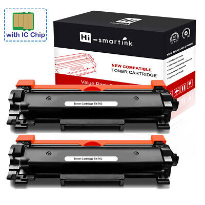 Compatible High Yield Toner - 2 PK High Yield TN760 Toner Cartridge with IC Chip Compatible for Brother TN730